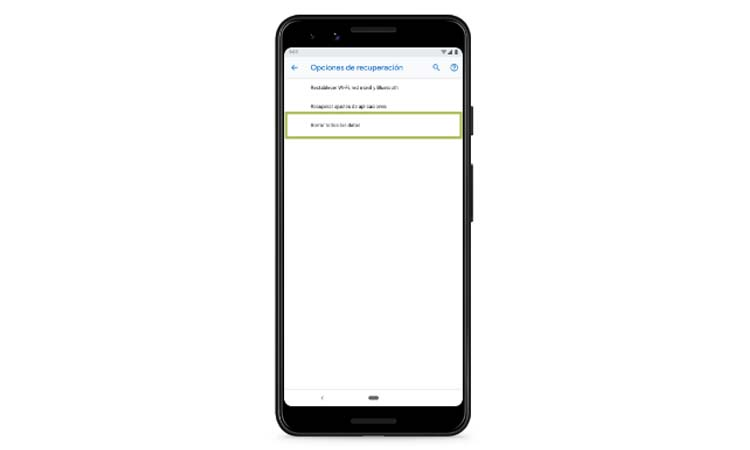 How to reset an Android mobile from the settings step3
