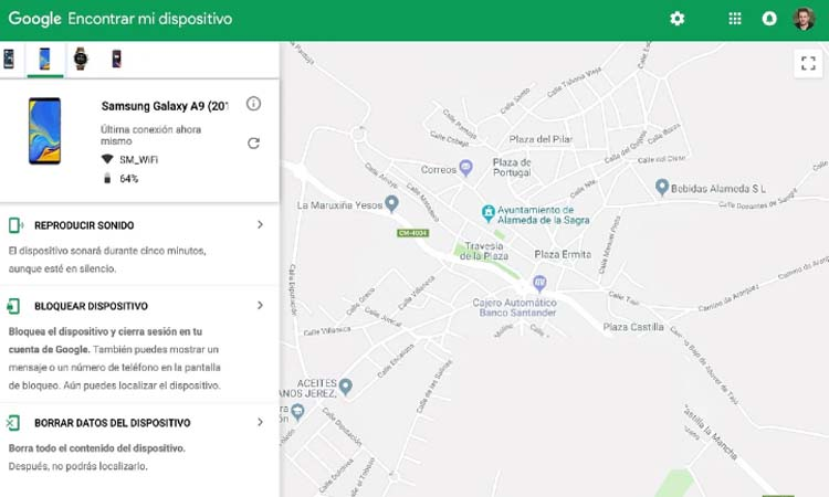 Locate and recover your mobile with Find my device from Google 1
