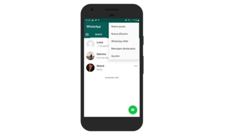 Save a WhatsApp conversation from the chats tab