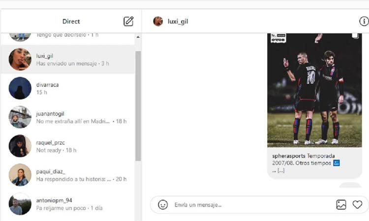 Send direct messages from Instagram web
