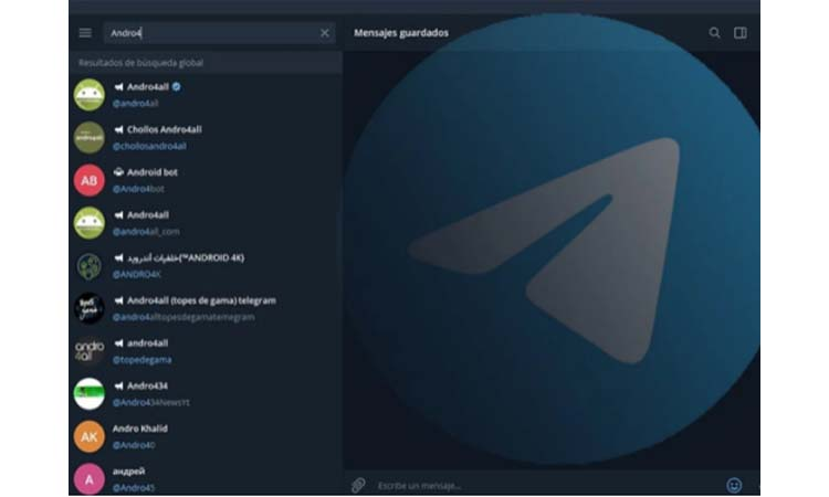 Telegram How to search for new groups and channels step by step step1