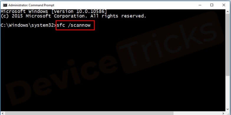 Test Corrupted Files Using cmd - Step 2