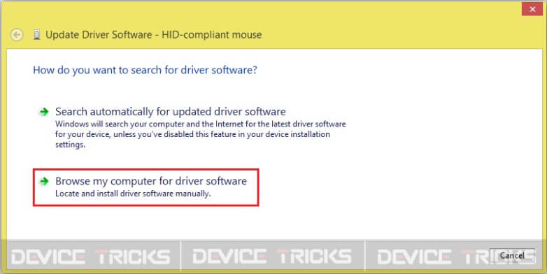 Update The Chipset Drivers Manually - Step 3