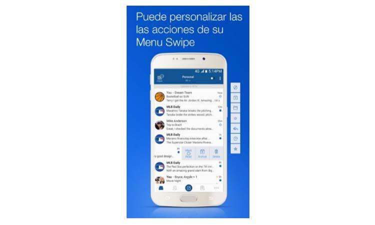 Blue Mail step2