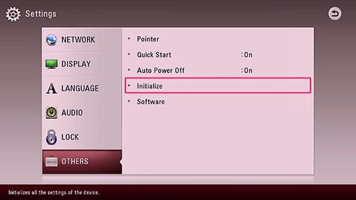 How do I Factory Reset WebOS LG TV