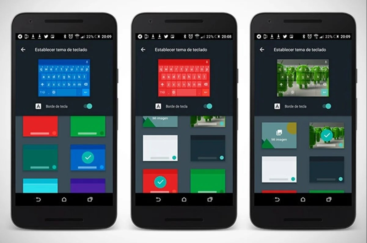 How to change the color or put any image on the Google keyboard