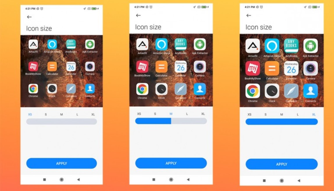 How to change the size of the icons on Xiaomi phones