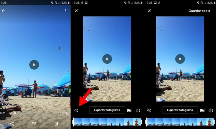 How to remove the audio from a video on your Android mobile
