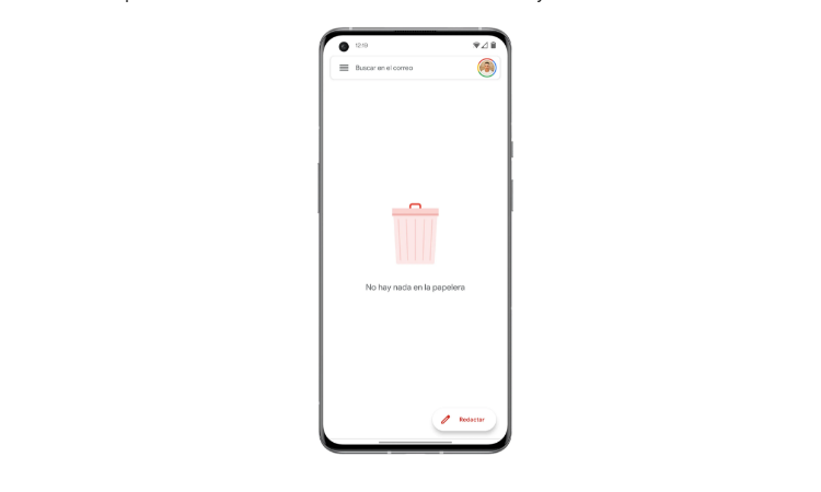 Recycle bin on Android in Google apps step1