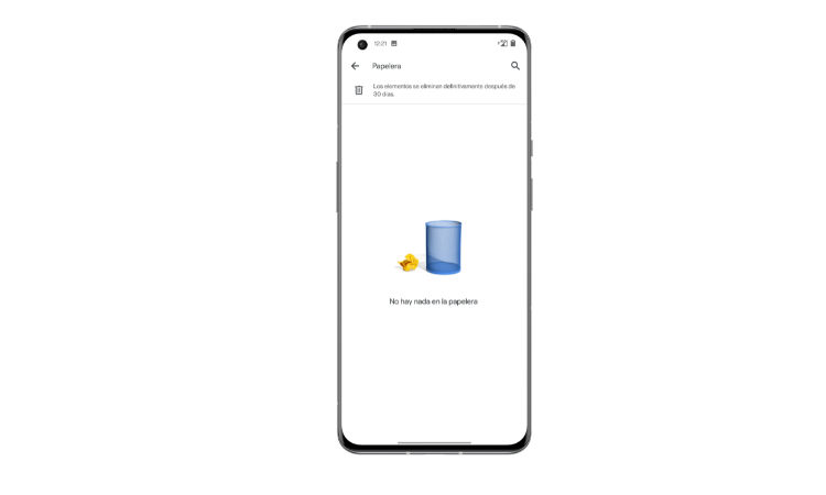 Recycle bin on Android in Google apps step2