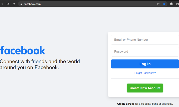 Start Facebook from your computer