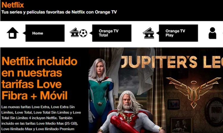 Subscription of your TV operator with Netflix included