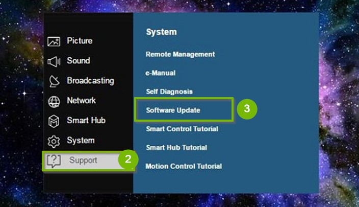 Update your TVs Software