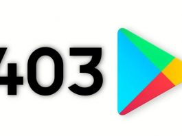 What is error code 403 in the Play Store and why does it happen